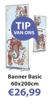 Tip van ons: de Banner Basic 60x200cm