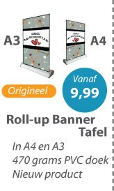 Roll-up Banner Tafel